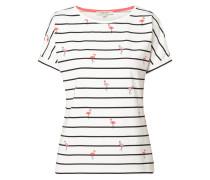 Shirt mit Flamingos und Streifen