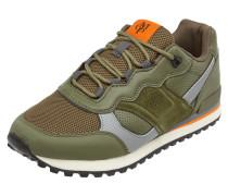 Sneaker aus Veloursleder und Textil
