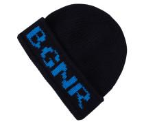Mütze mit eingestricktem Logo