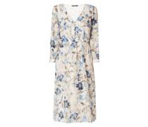 Kleid mit Stickereien und floralem Muster