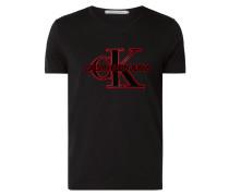 T-Shirt mit Logo-Flockprint