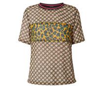 Blusenshirt aus Chiffon mit Mustermix