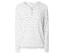 Blusenshirt mit elastischem Saum