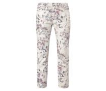 5-Pocket-Hose mit floralem Muster