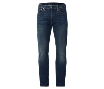 Stone Washed Tapered Slim Fit Jeans