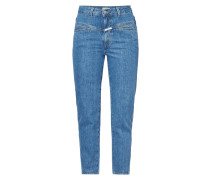 Stone Washed Mom Fit High Waist Jeans