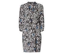 Kleid aus Viskose mit Volantbesatz