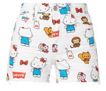 Levi's® x Hello Kitty Jeansshorts mit Allover-Print