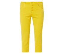Coloured Regular Fit Caprijeans