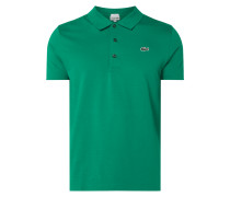 Slim Fit Sport-Poloshirt mit Logo-Badge