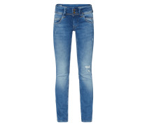 Straight Fit Jeans aus Baumwoll-Elasthan-Mix
