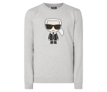 Sweatshirt mit Karl-Stickerei
