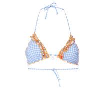 Bikini-Oberteil mit Vichy Karo