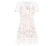 Kleid aus Mesh mit Häkelspitze