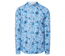 Slim Fit Freizeithemd mit floralem Muster