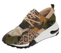 Sneaker 'Cliff' aus Veloursleder mit Animal-Print