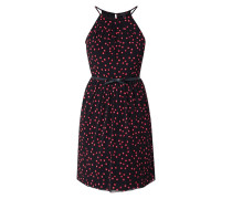 Kleid aus Mesh mit Taillengürtel