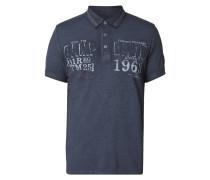 Poloshirt mit Logo- und Kontrastdetails