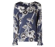 Blusenshirt aus Satin mit floralem Muster