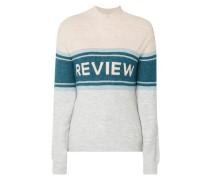 Pullover mit eingestricktem Logo