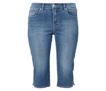 Stone Washed 5-Pocket-Caprijeans