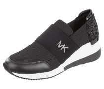 Slip-On Sneaker aus Mesh mit Keilabsatz