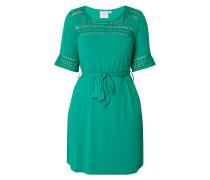 PLUS SIZE - Kleid mit Lochstrickdetails