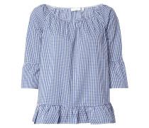 Off Shoulder Blusenshirt mit Vichy Karo