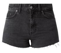 Jeansshorts mit offenen Beinabschlüssen