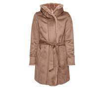 Mantel mit Futter aus Faux Fur