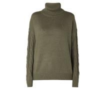 Rollkragen-Pullover mit Zopfstrickdetails
