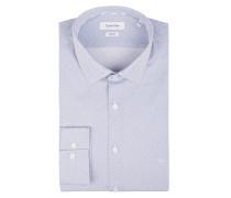 Slim Fit Business-Hemd mit Gittermuster