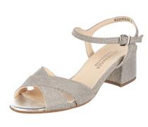 Sandalette aus Textil mit Effektgarn