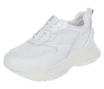 Sneaker aus Veloursleder mit Plateausohle