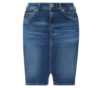 Stone Washed Slim Fit Jeansrock