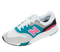 Sneaker aus Veloursleder und Mesh