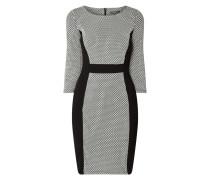 Two-Tone-Kleid mit Dreiviertelärmeln