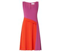 Kleid aus Krepp im Colour Blocking