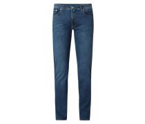 Tapered Fit Jeans mit hohem Stretch-Anteil Modell 'Lyon' - 'Futureflex'