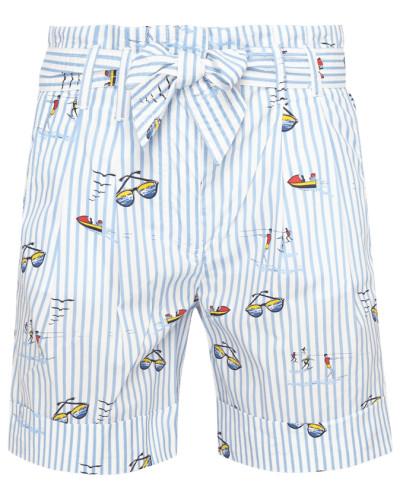 Shorts mit Streifenmuster und Print