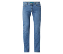 Tapered Fit Jeans mit hohem Stretch-Anteil Modell 'Lyon' - 'Futureflex'