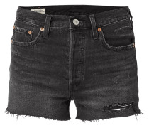 High Rise 5-Pocket-Jeansshorts aus Coloured Denim