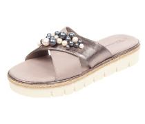 Sandalen aus Leder mit Zierperlen