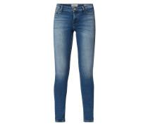 Regular Skinny Fit Jeans im Used Look