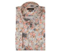 Slim Fit Cityhemd mit floralem Muster