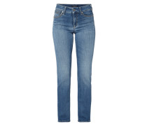 Stone Washed Jeans in 7/8-Länge