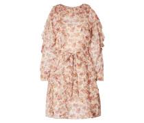 Cold-Shoulder-Kleid mit Volants