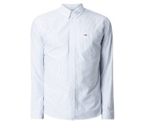 Modern Fit Freizeithemd aus Oxford mit Button-Down-Kragen