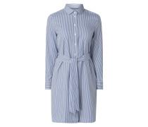 Blusenkleid mit Streifenmuster