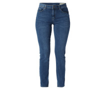 Stone Washed Straight Fit 5-Pocket-Jeans